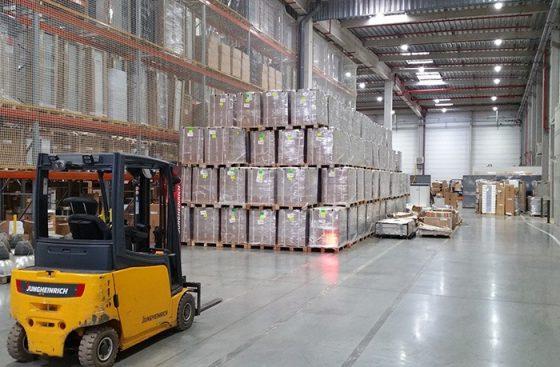 éclairage led site logistique
